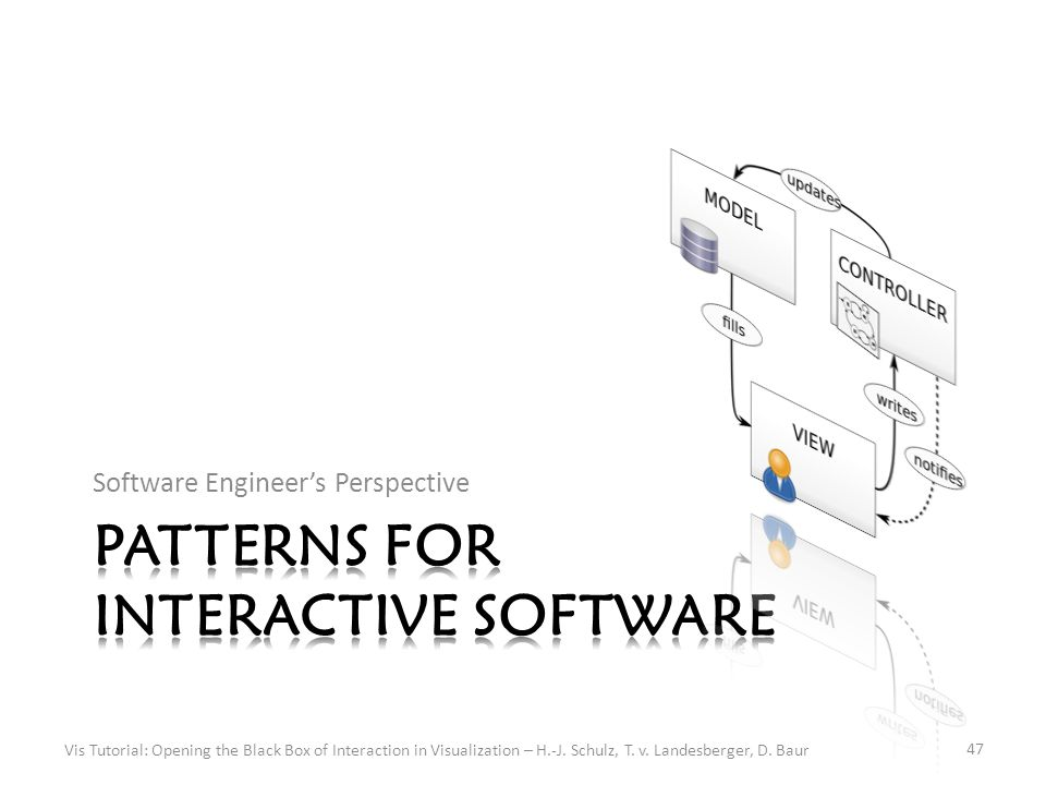 Software Engineer's Perspective Vis Tutorial: Opening the Black Box of Interaction in Visualization – H.-J.
