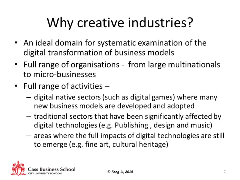 Why creative industries.