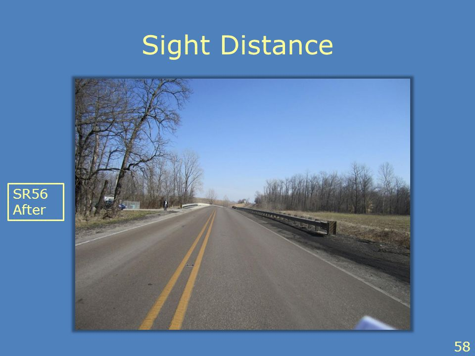 Sight Distance SR56 After 58