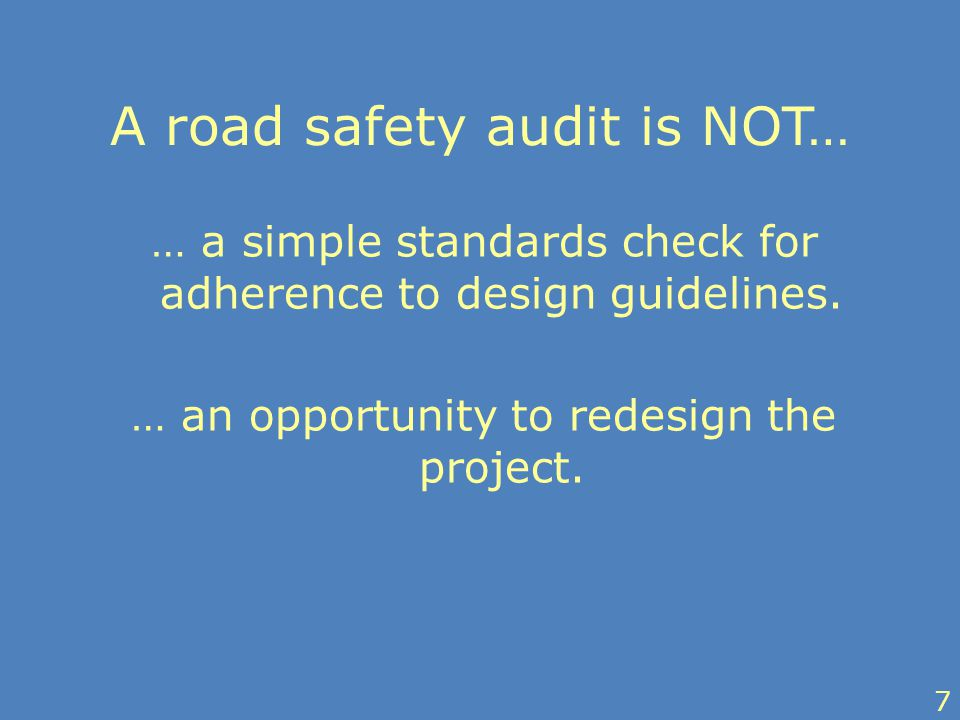 … a simple standards check for adherence to design guidelines.