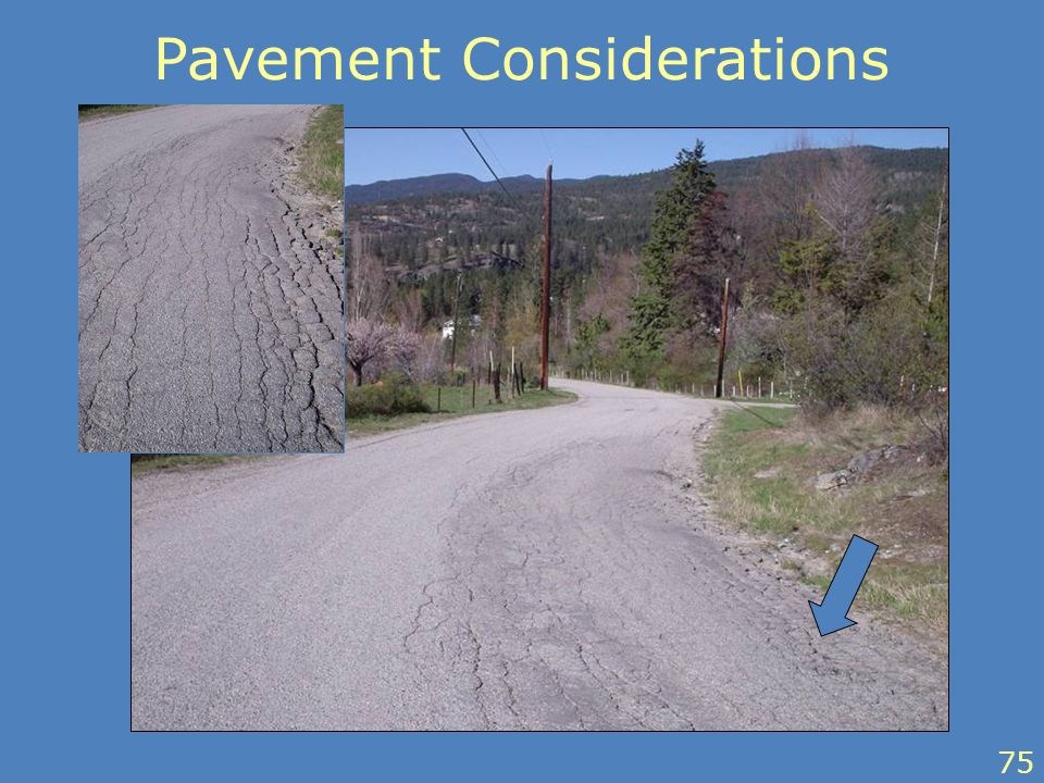 75 Pavement Considerations