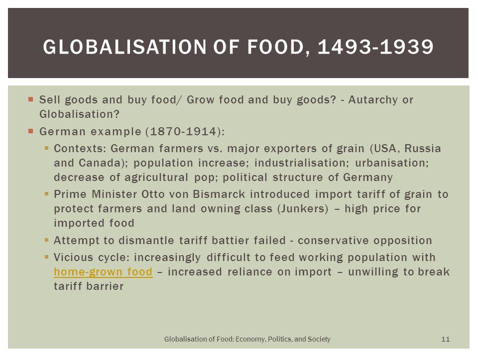  Sell goods and buy food/ Grow food and buy goods.