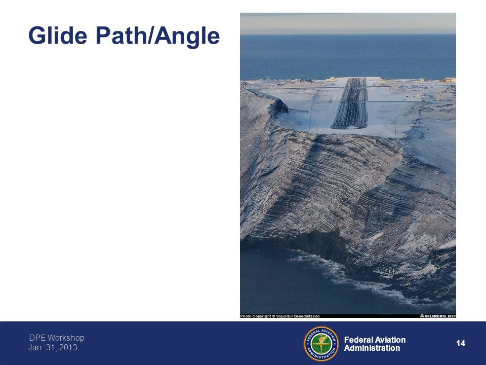 14 Federal Aviation Administration DPE Workshop Jan. 31, 2013 Glide Path/Angle