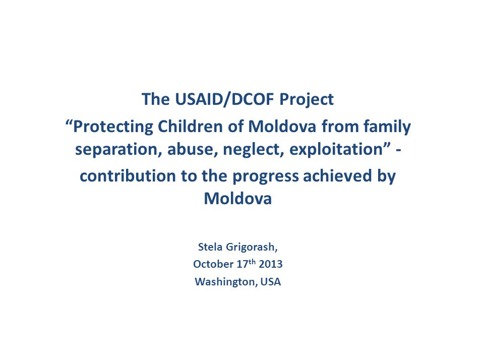 USAID-funded project contribution to improve M&E of the reform (3) LAs partners are supported to develop reliable systems and procedures to collect information on children supported by the project.