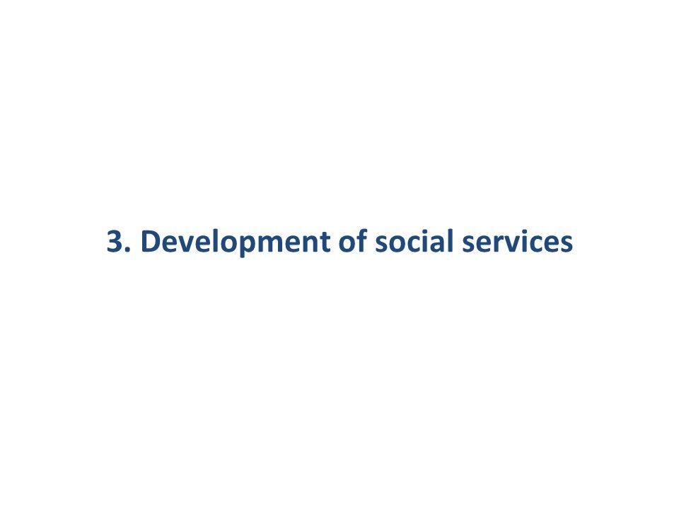 3. Development of social services