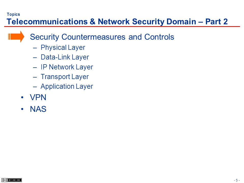 - 16 - Security Countermeasures & Controls Security of Data-Link Layer – Review Data-Link Layer –MAC (LAN & WAN) –LLC (LAN) LAN Data-Link Layer Protocols –Ethernet (CSMA/CD) –Token Ring (Token Passing) –IEEE 802.11 a/b/g (CSMA/CA) WAN Data-Link Layer Protocols –X.25 –Frame Relay –SMDS (Switched Multi-gigabit Data Services) –ISDN (Integrated Services Digital Network) –HDLC (High-level Data Link Control) –ATM (Asynchronous Transfer Mode)