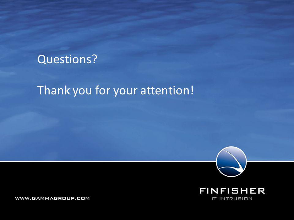 190 Vielen Dank für die Aufmerksamkeit Questions? Thank you for your attention!