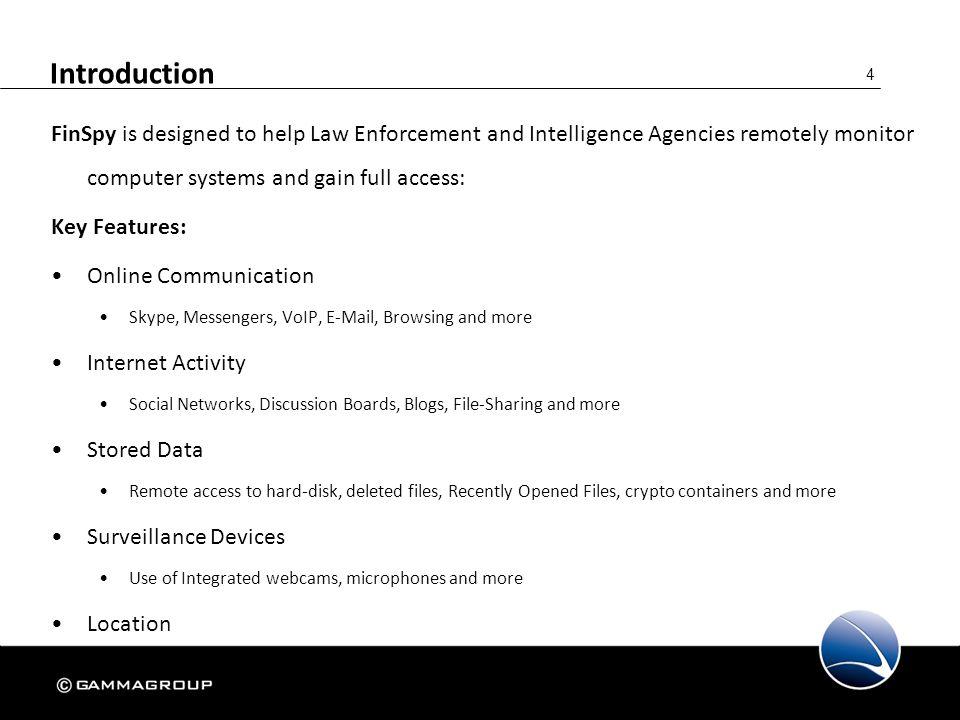 15 FinSpy Agent – Target List The FinSpy Agent Target List displays information about a Target.