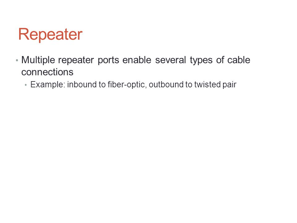 Cable TV Modems Uses two channels (frequencies) to communicate Upstream: transmit outgoing data, sound, TV signals Downstream: receive and blend incoming signals Factors affecting transmission speed Modem speeds may differ upstream and downstream Example: 30 Mbps upstream, 15 Mbps downstream Maximum bandwidth reduced by other subscribers Cable service may impose policy limits Data Over Cable Service Interface Spec (DOCSIS) Also called Certified Cable Modem Project Provides standards and certifications 37