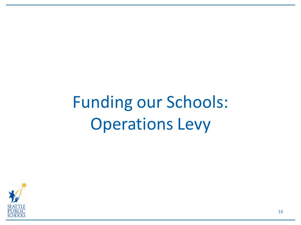 Funding our Schools: Operations Levy 16