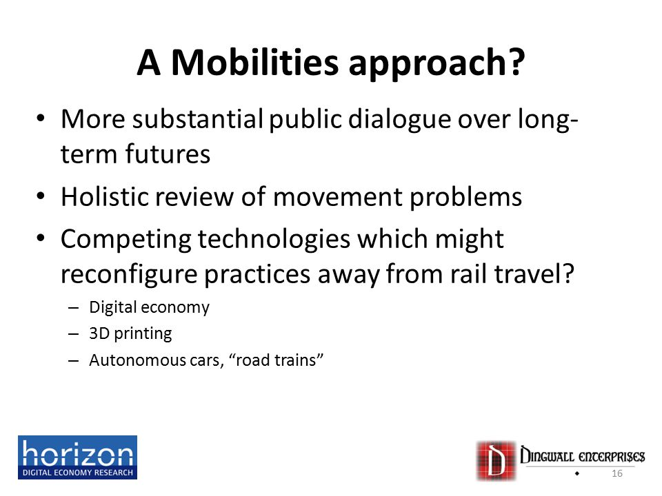 A Mobilities approach.