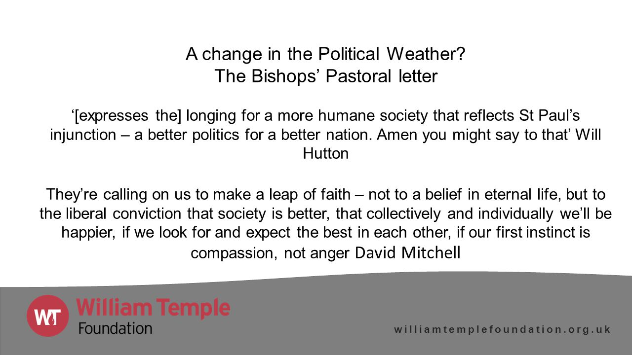 williamtemplefoundation.org.uk Are we now living in a postsecular public sphere – the new visibility of religion in the 21 st century.