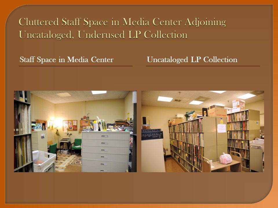 Staff Space in Media CenterUncataloged LP Collection