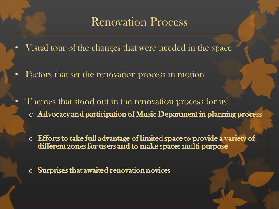 Renovation Themes Surprises