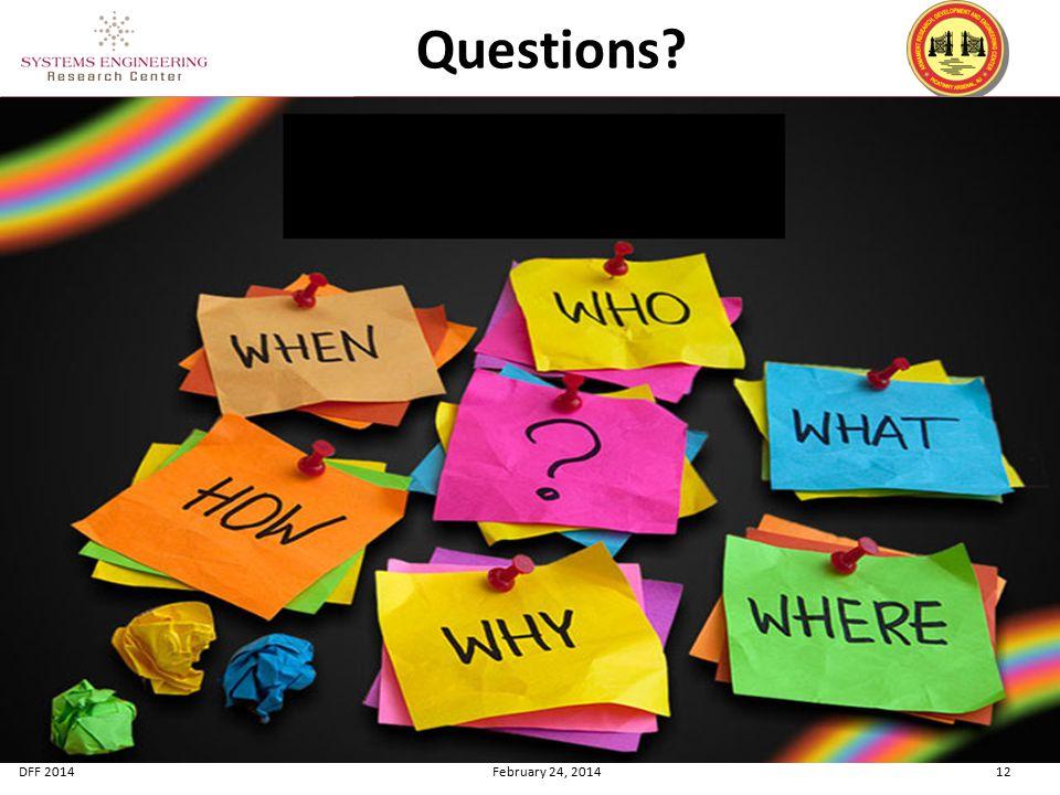 DFF 2014 February 24, 2014 12 Questions