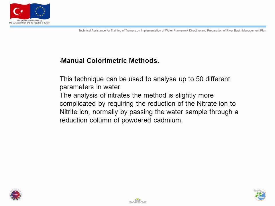 Manual Colorimetric Methods.