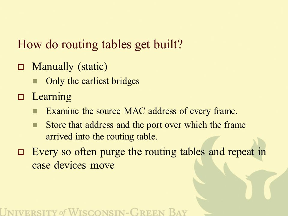 How do routing tables get built.