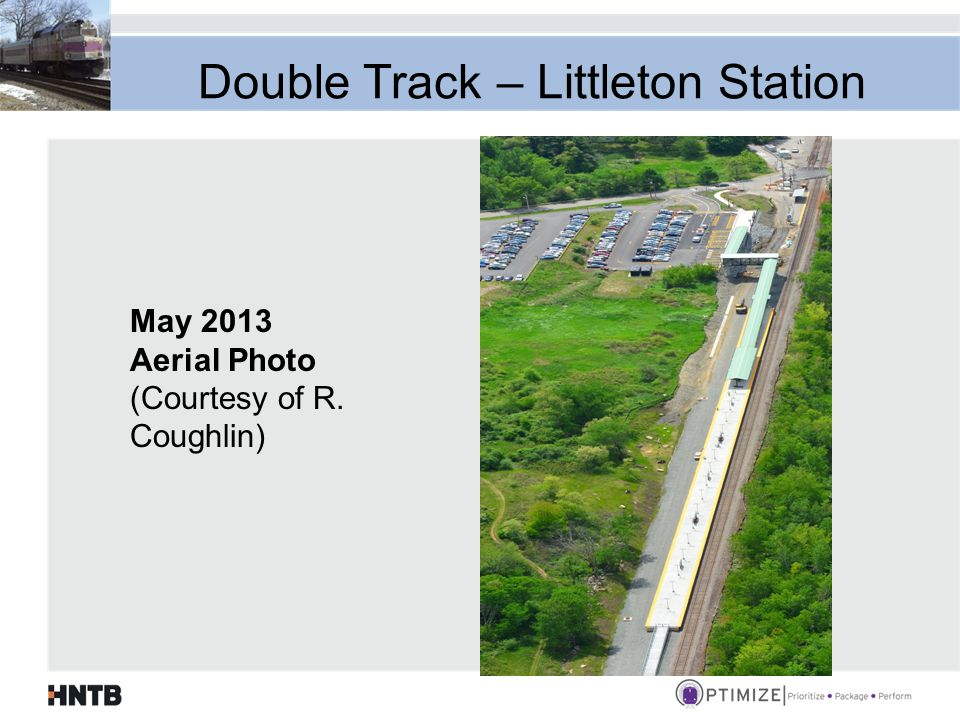 Double Track – Littleton Station May 2013 Aerial Photo (Courtesy of R. Coughlin)