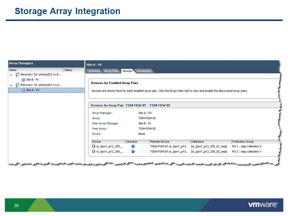 20 Storage Array Integration