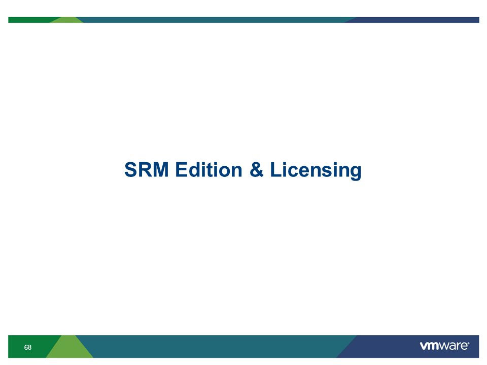 68 SRM Edition & Licensing