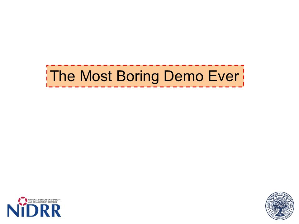 The Most Boring Demo Ever