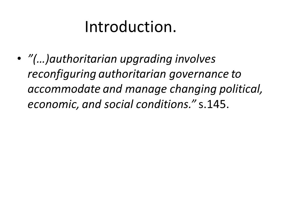 The five key features.1.Appropriating and containing civil societies.