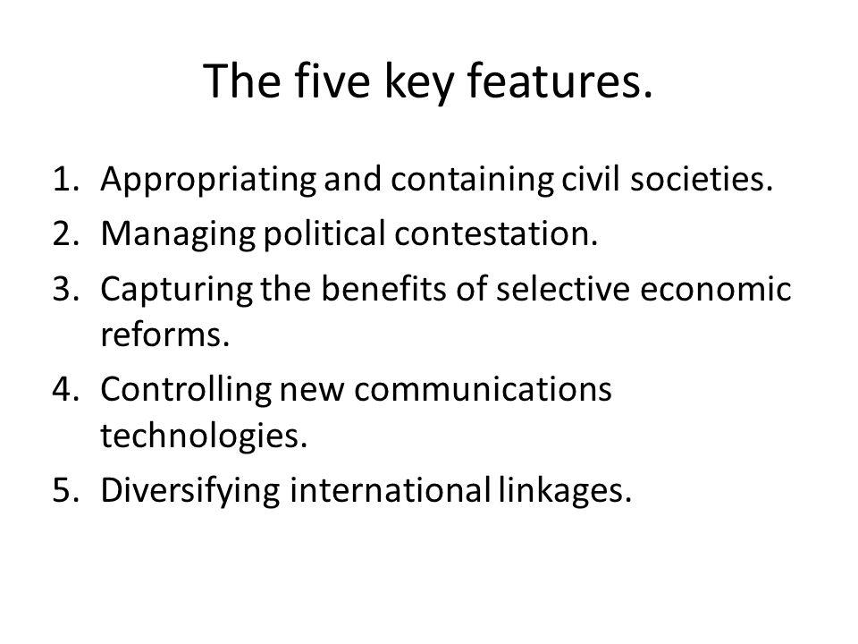 Upgrading authoriatanism Exploitation of social, political and economic settings.