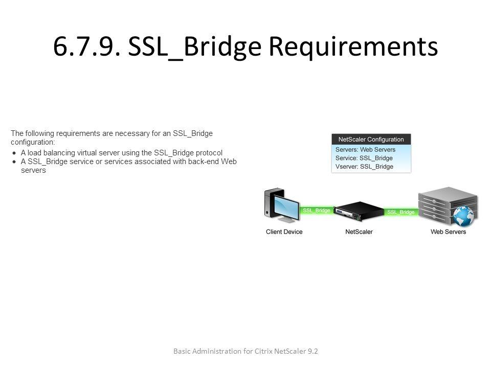 6.7.9. SSL_Bridge Requirements Basic Administration for Citrix NetScaler 9.2