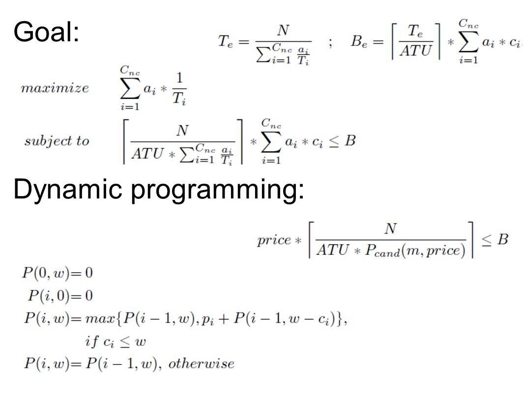 Goal: Dynamic programming: