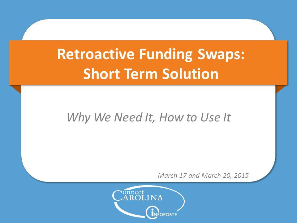 Focus for Today Short Term Solution for Retros 12