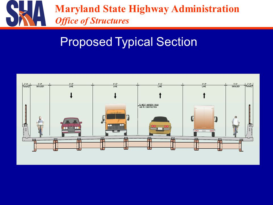 Maryland State Highway Administration Office of Structures Maryland State Highway Administration Office of Structures Proposed Typical Section