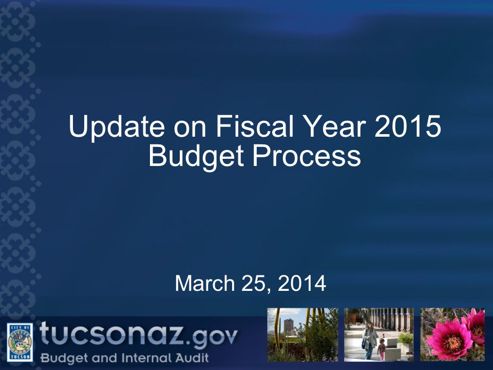 Update on Fiscal Year 2015 Budget Process March 25, 2014 1