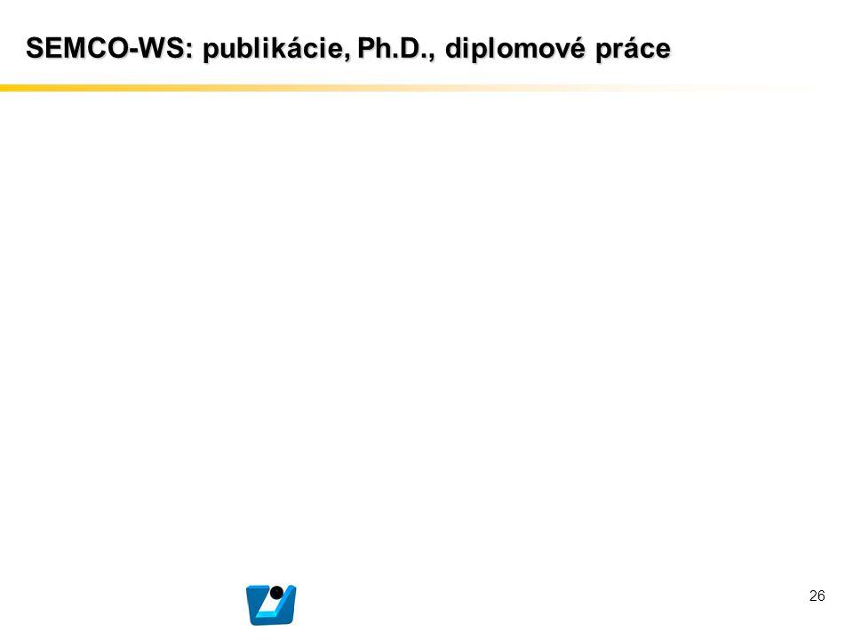 SEMCO-WS: publikácie, Ph.D., diplomové práce 26