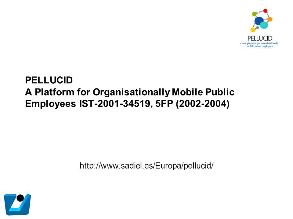 PELLUCID A Platform for Organisationally Mobile Public Employees IST-2001-34519, 5FP (2002-2004) http://www.sadiel.es/Europa/pellucid/