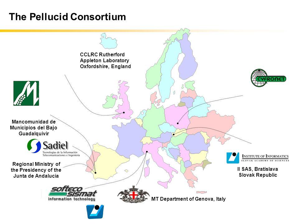 The Pellucid Consortium II SAS, Bratislava Slovak Republic MT Department of Genova, Italy Mancomunidad de Municipios del Bajo Guadalquivir CCLRC Ruthe