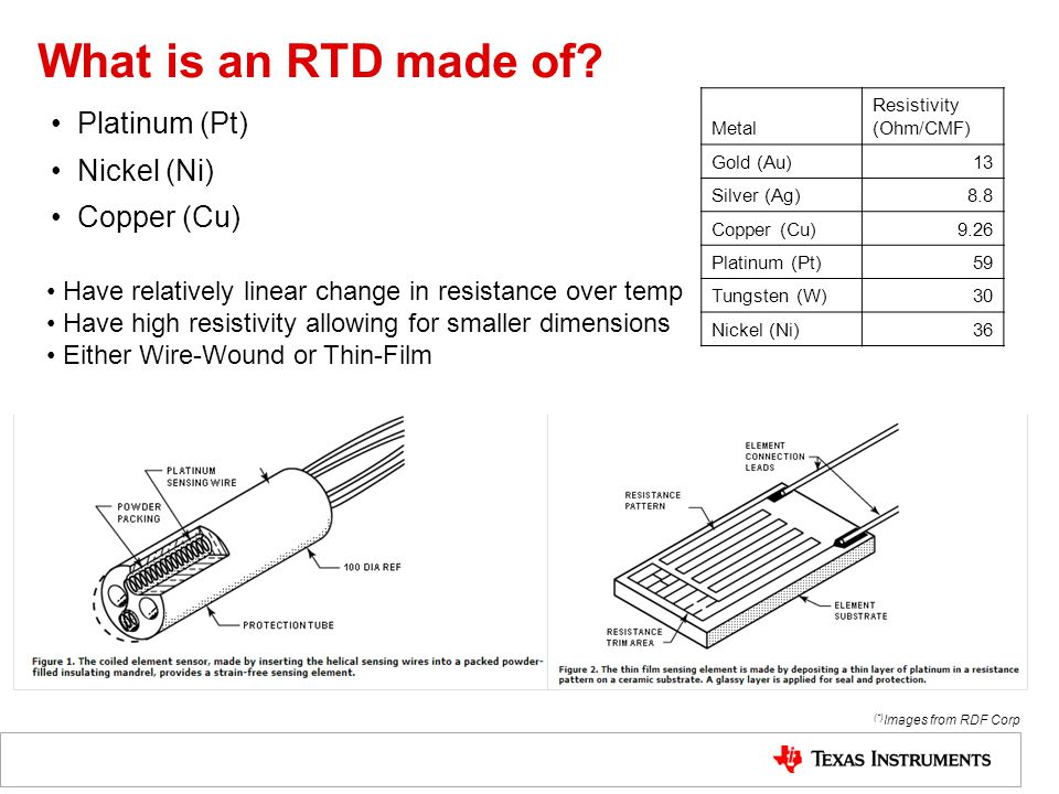 What is an RTD made of.