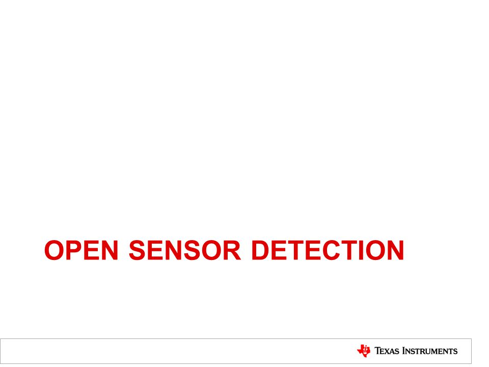 OPEN SENSOR DETECTION