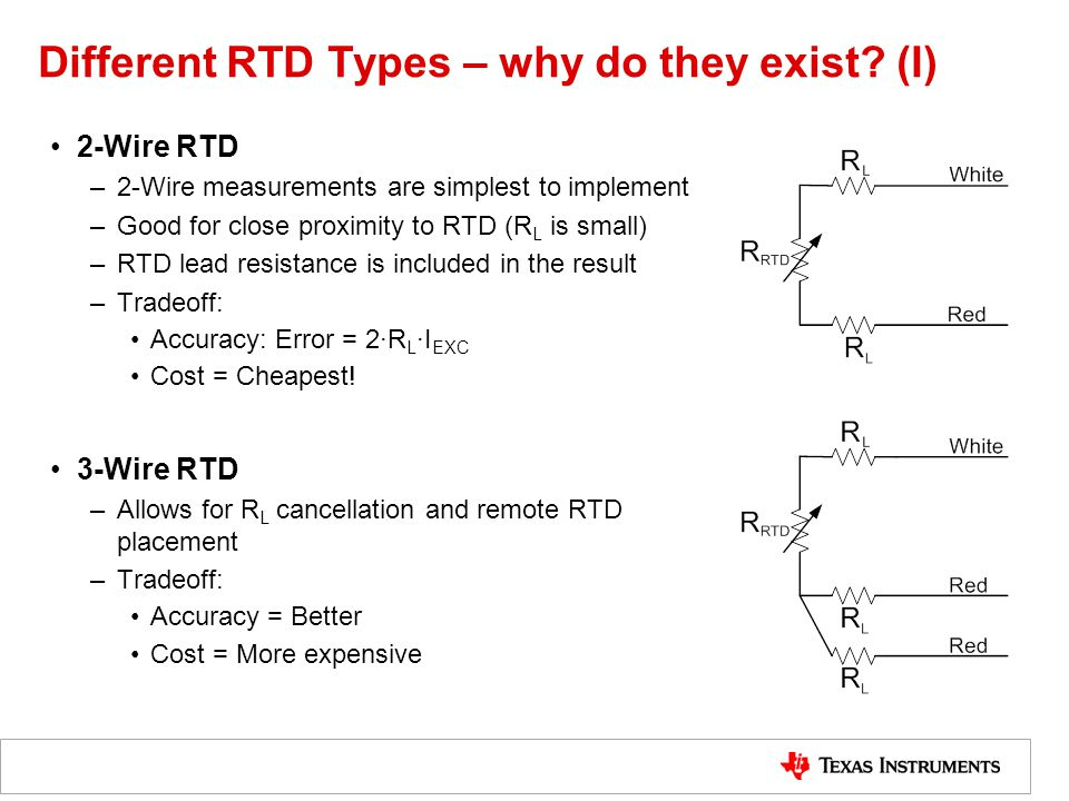 Different RTD Types – why do they exist.
