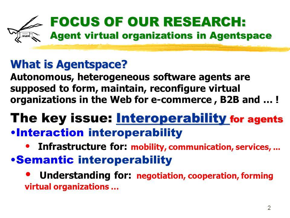 1 Interoperability in Agentspace: a contribution to Semantic Web Stanisław Ambroszkiewicz Krzysztof Cetnarowicz IPI PAN, Warsaw, AGH, Krakow, UTBM Belfort-Montbéliard POLAND & FRANCE www.ipipan.waw.pl/mas/ Work supported by ESPRIT project CRIT2 November 2000 &
