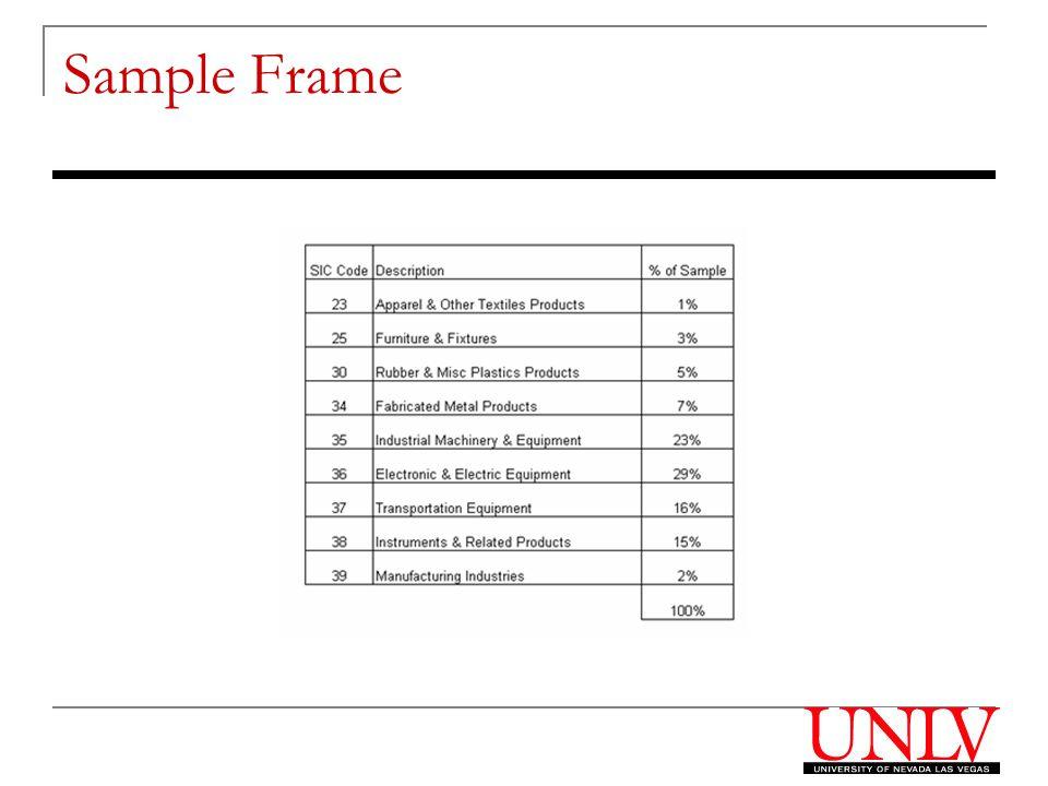 Sample Frame