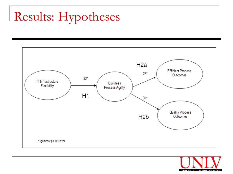 Results: Hypotheses H1 H2a H2b