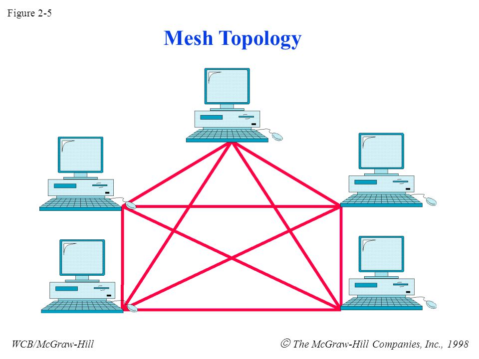 Figure 2-5 WCB/McGraw-Hill  The McGraw-Hill Companies, Inc., 1998 Mesh Topology