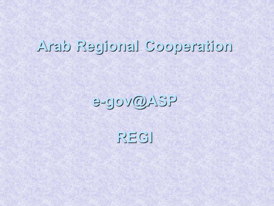 Arab Regional Cooperation e-gov@ASP REGI