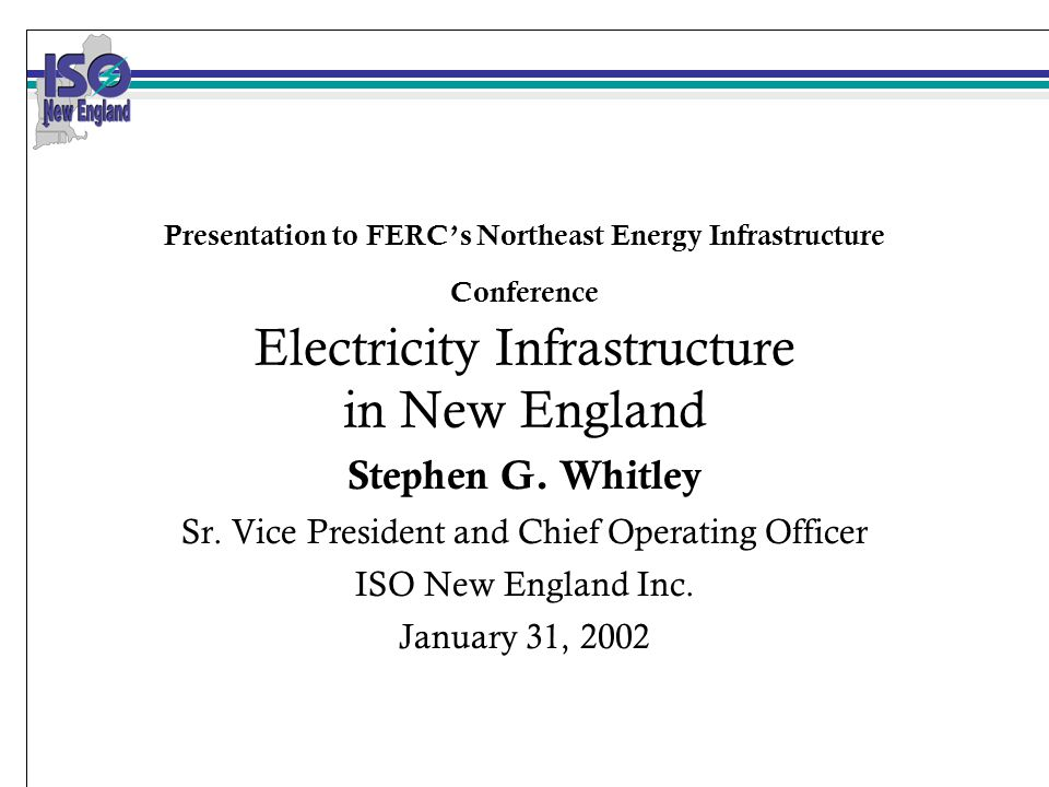 2 Overview of Remarks ISO New England - Who we are and what we do Supply outlook Natural gas issues Regional transmission planning process Southwest Connecticut Conclusions
