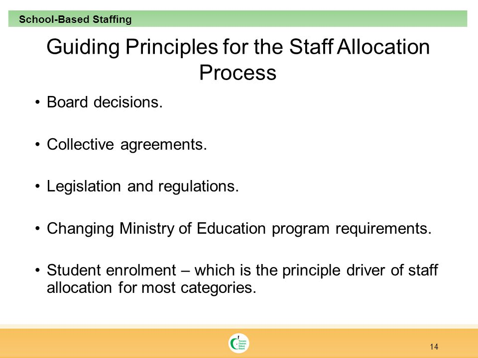 Guiding Principles for the Staff Allocation Process Board decisions.