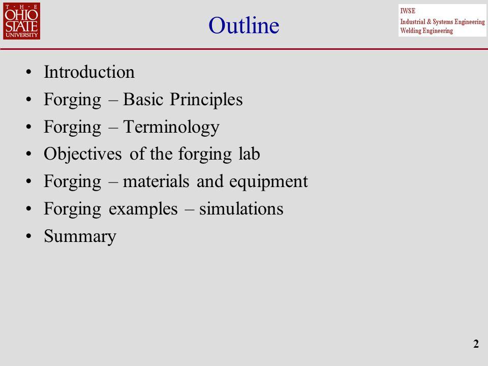 33 Summary – Forging Lab Comparison of original ring specimens to deformed rings: Original steel specimen Steel specimen after cold forging (2 steps/hits) Original aluminum specimen Aluminum specimen after cold forging (2 steps/hits)