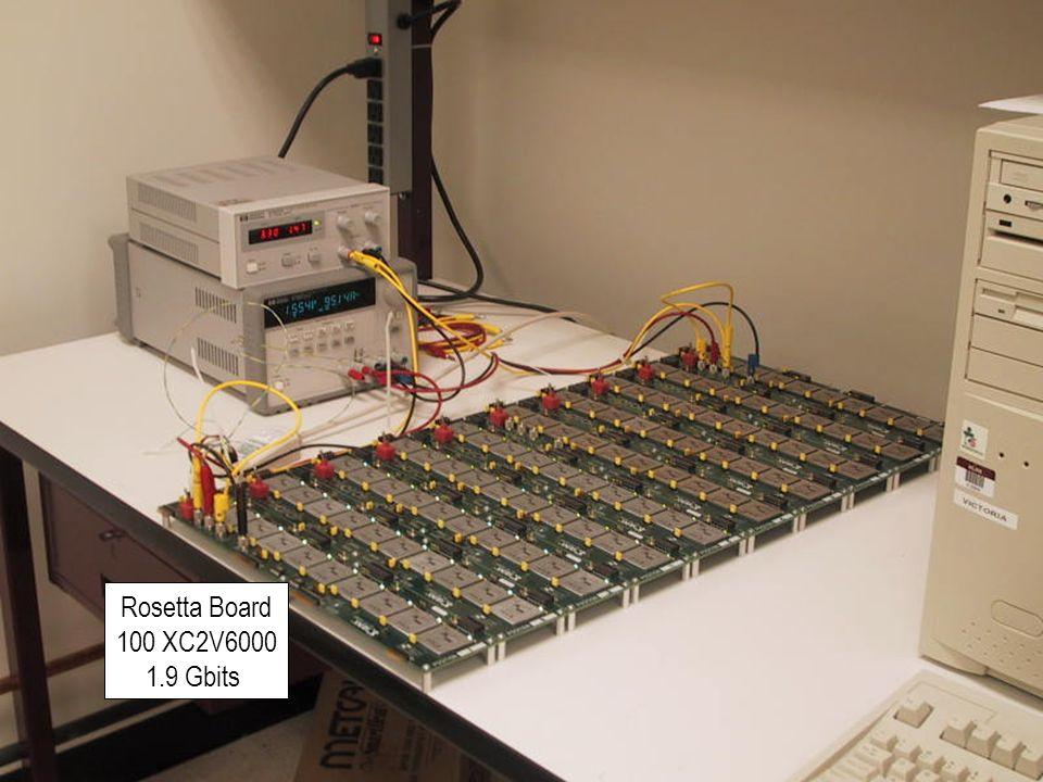 MAPLD2004 20 Fabula_139 Rosetta Board 100 XC2V6000 1.9 Gbits