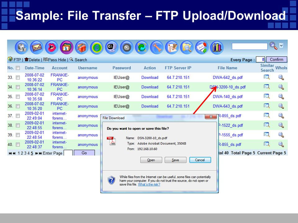 Sample: File Transfer – FTP Upload/Download