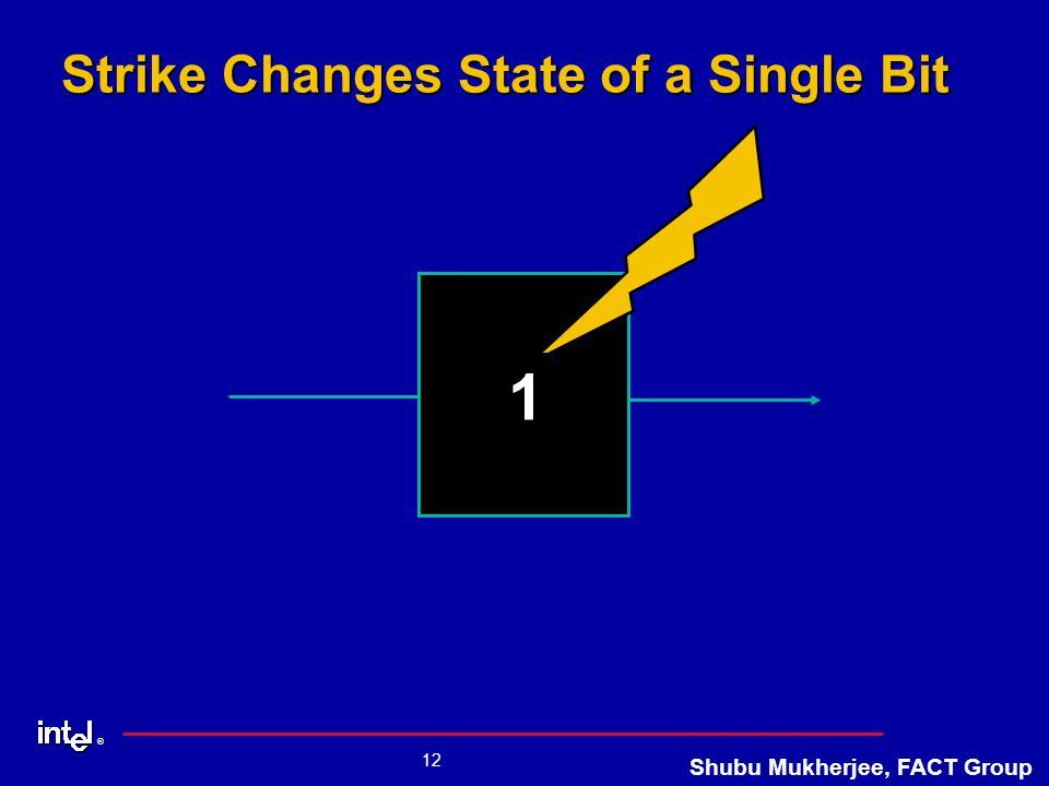 ® 12 Shubu Mukherjee, FACT Group Strike Changes State of a Single Bit 0 1