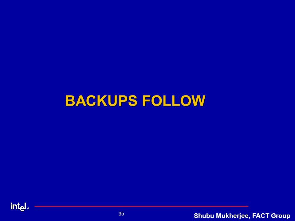 ® 35 Shubu Mukherjee, FACT Group BACKUPS FOLLOW